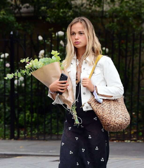 Amelia Windsor - Pictured with bouquet of flowers while out in London