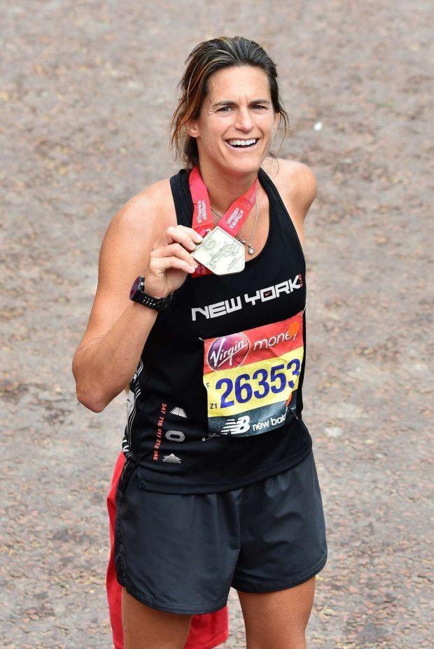 Amelie Mauresmo - 2019 London Marathon Finish Line