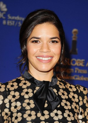 America Ferrera - 73rd Annual Golden Globe Nominations in LA