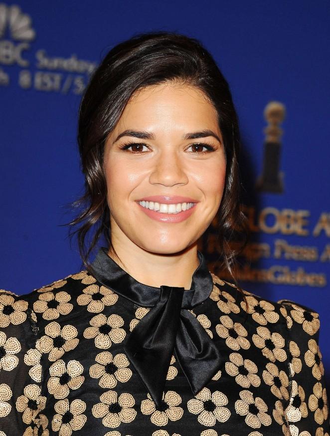 America Ferrera - 73rd Annual Golden Globe Nominations in LA