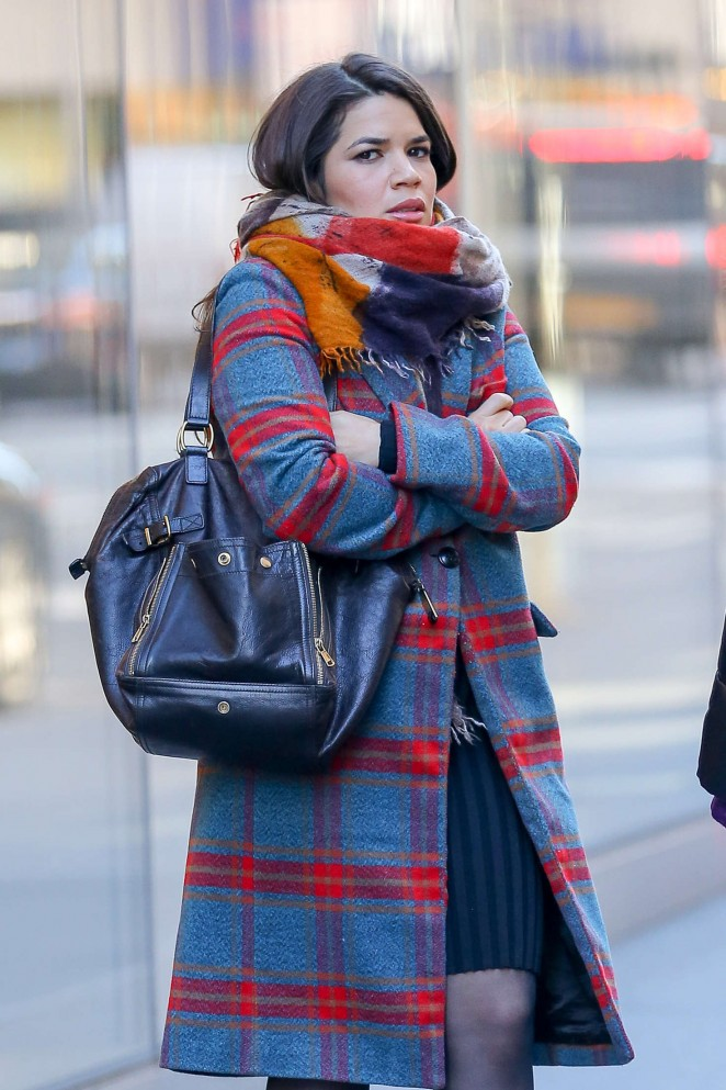 America Ferrera out and about in New York City