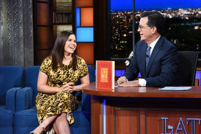 America Ferrera - Visits The Late Show With Stephen Colbert in NY