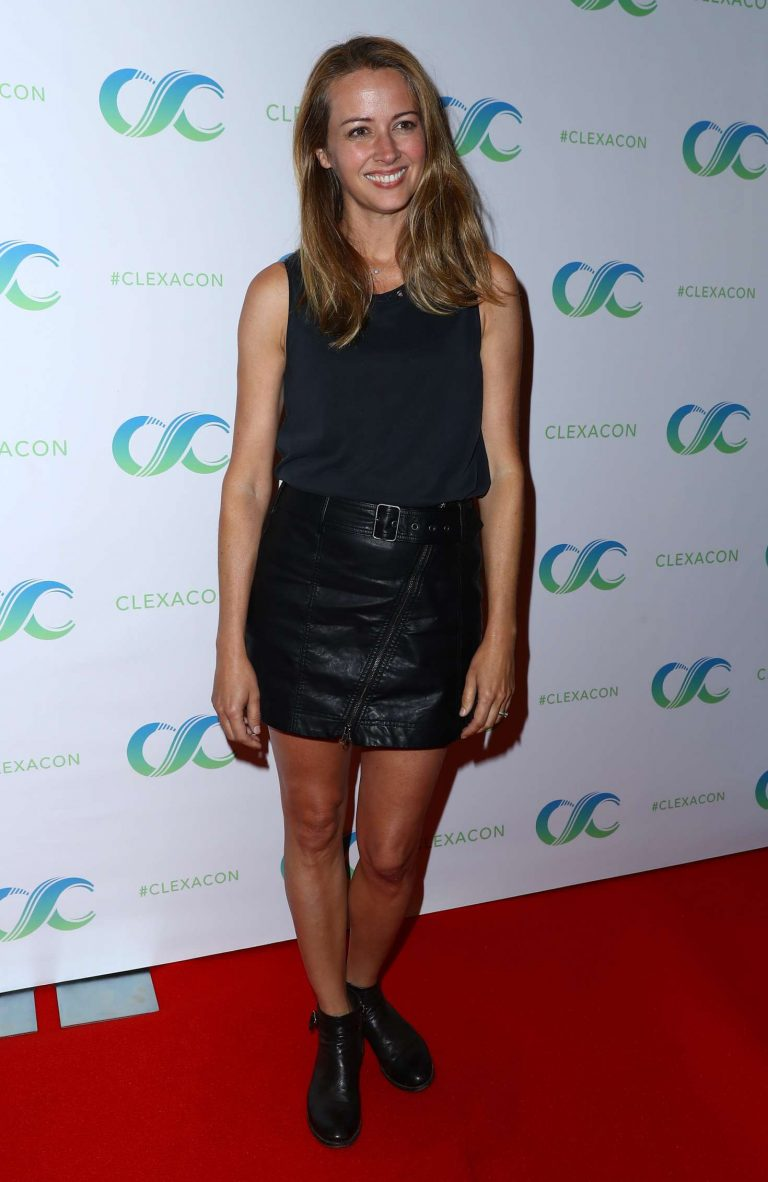 Actress Amy Acker attends the Person of Interest press