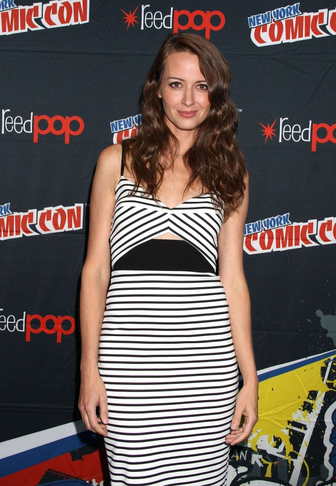 Amy Acker - Promoting Person of Interest at 2015 New York Comic-Con in NY