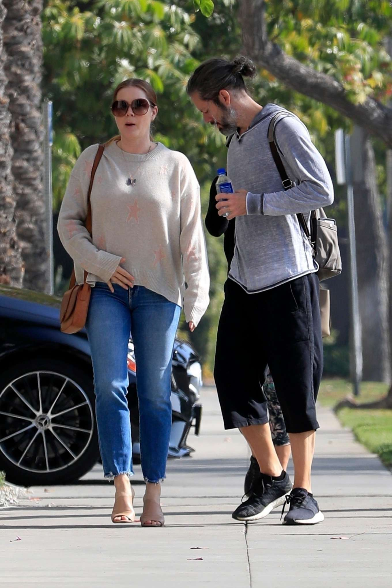Amy Adams 2019 : Amy Adams and her husband Darren Le Gallo – Out in Beverly Hills-01
