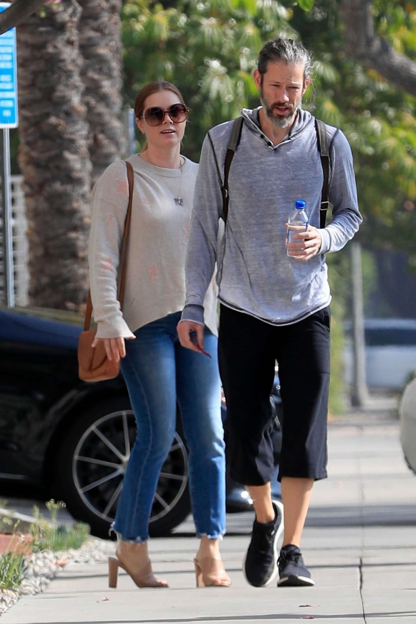 Amy Adams 2019 : Amy Adams and her husband Darren Le Gallo – Out in Beverly Hills-02