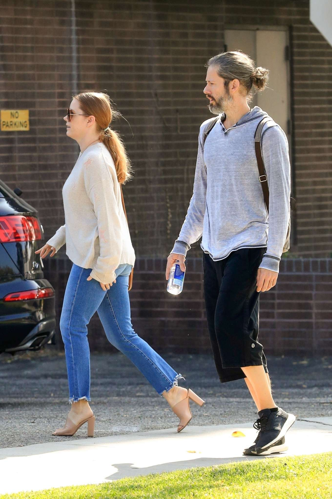 Amy Adams 2019 : Amy Adams and her husband Darren Le Gallo – Out in Beverly Hills-03