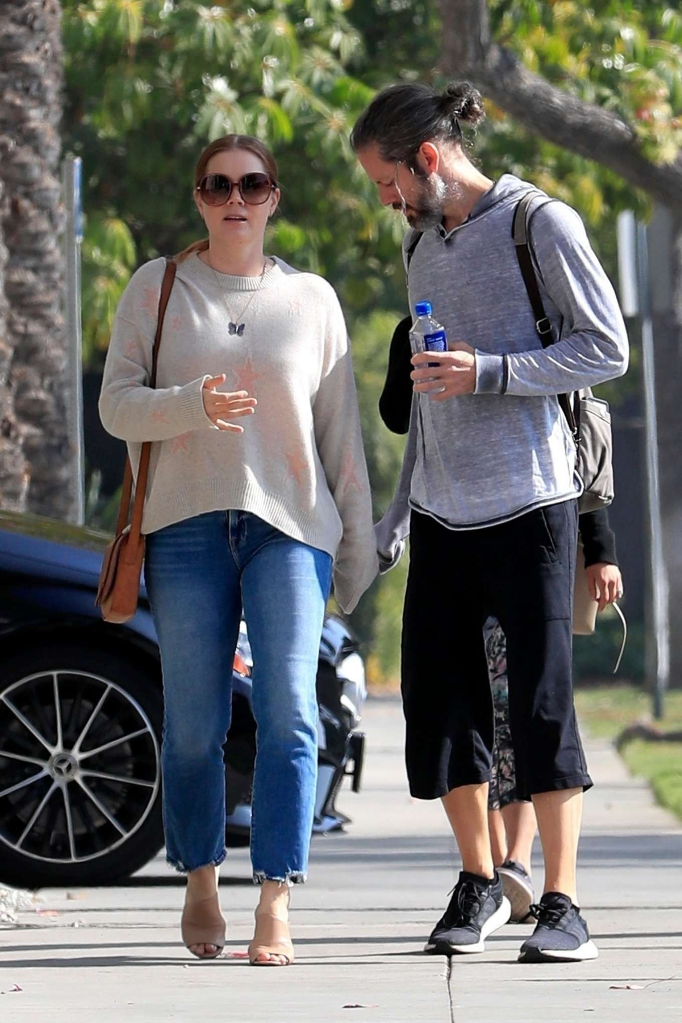 Amy Adams 2019 : Amy Adams and her husband Darren Le Gallo – Out in Beverly Hills-05