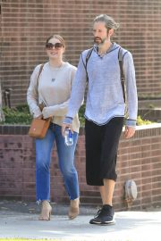 Amy Adams and her husband Darren Le Gallo - Out in Beverly Hills
