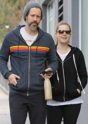 Amy Adams and her husband hitting the gym in LA