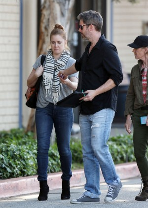 Amy Adams and her husband out in Culver City