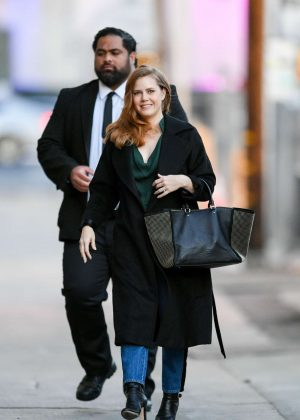 Amy Adams - Arrives at 'Jimmy Kimmel Live' in Los Angeles