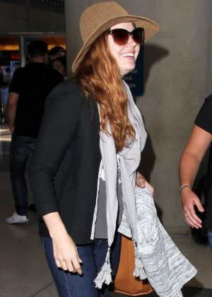 Amy Adams Arrives at LAX in Los Angeles