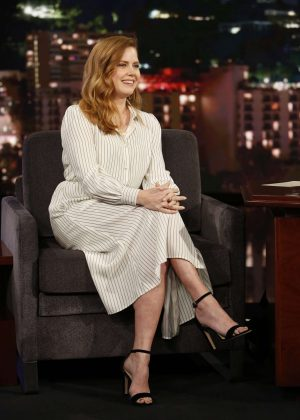 Amy Adams at Jimmy Kimmel Live! in Los Angeles