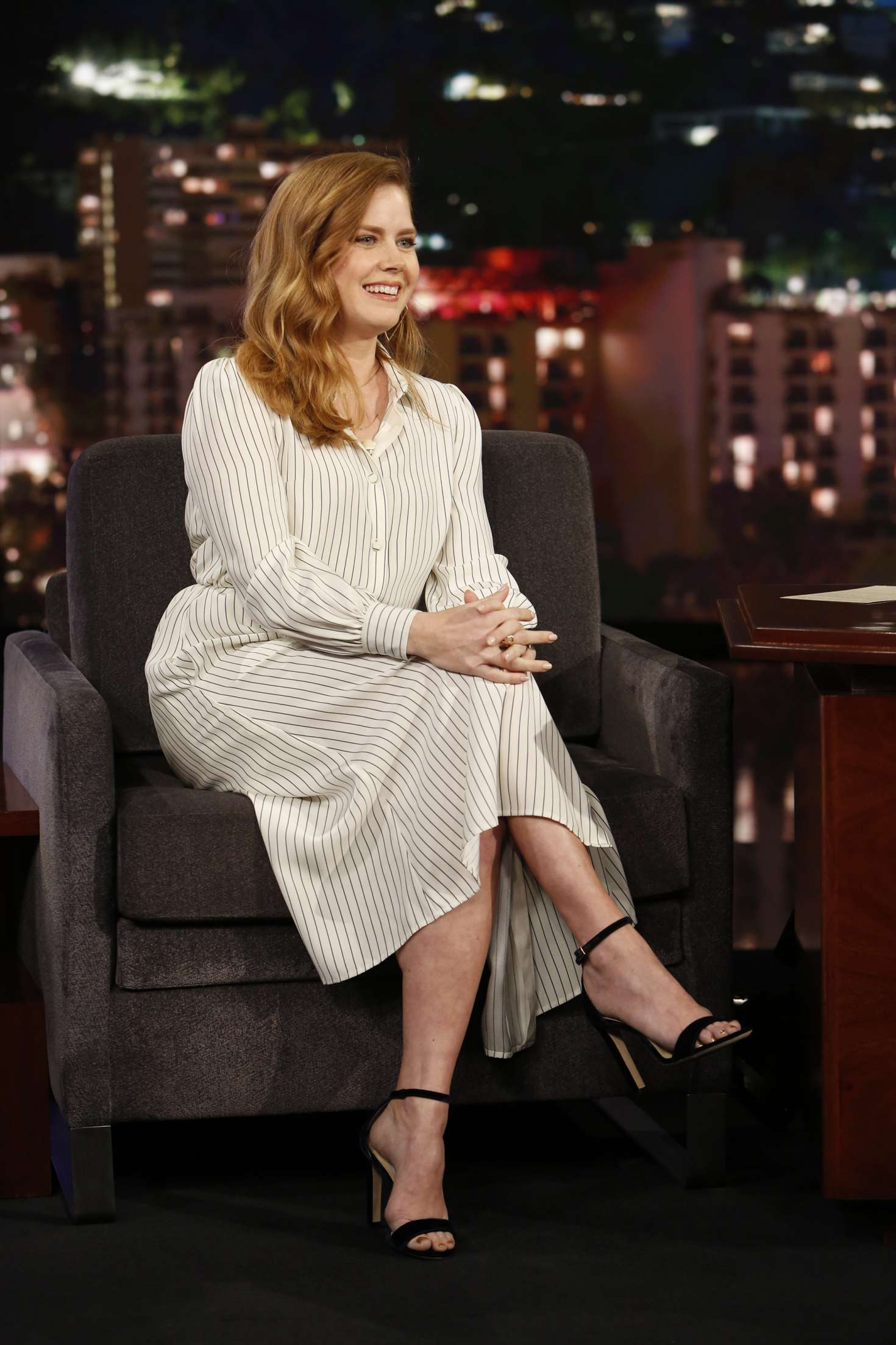 Amy Adams 2018 : Amy Adams at Jimmy Kimmel Live -01