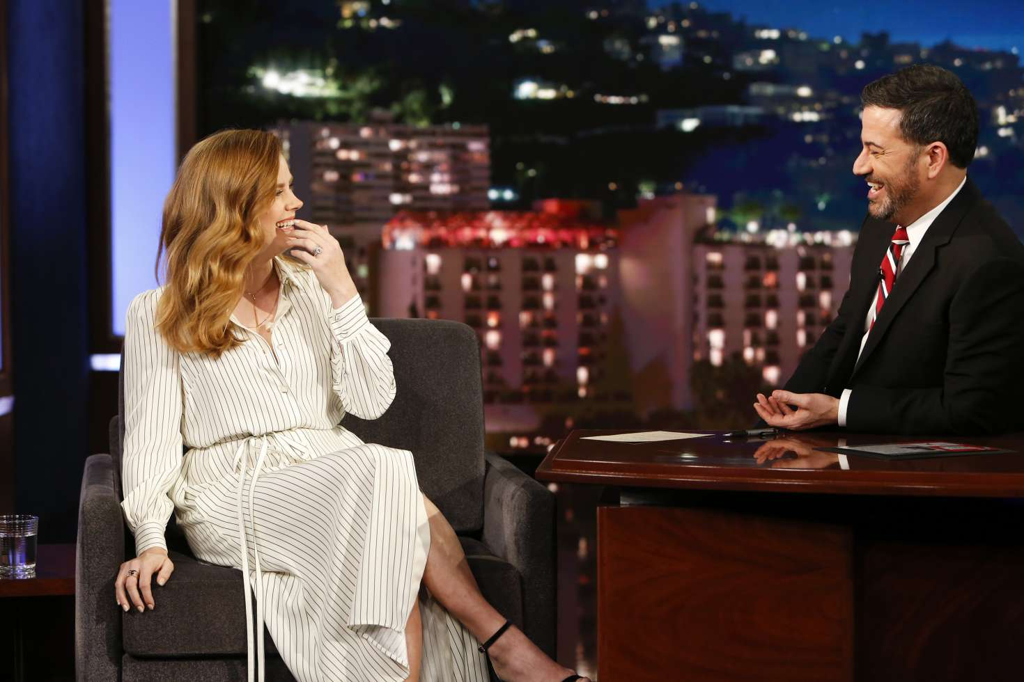 Amy Adams 2018 : Amy Adams at Jimmy Kimmel Live -04