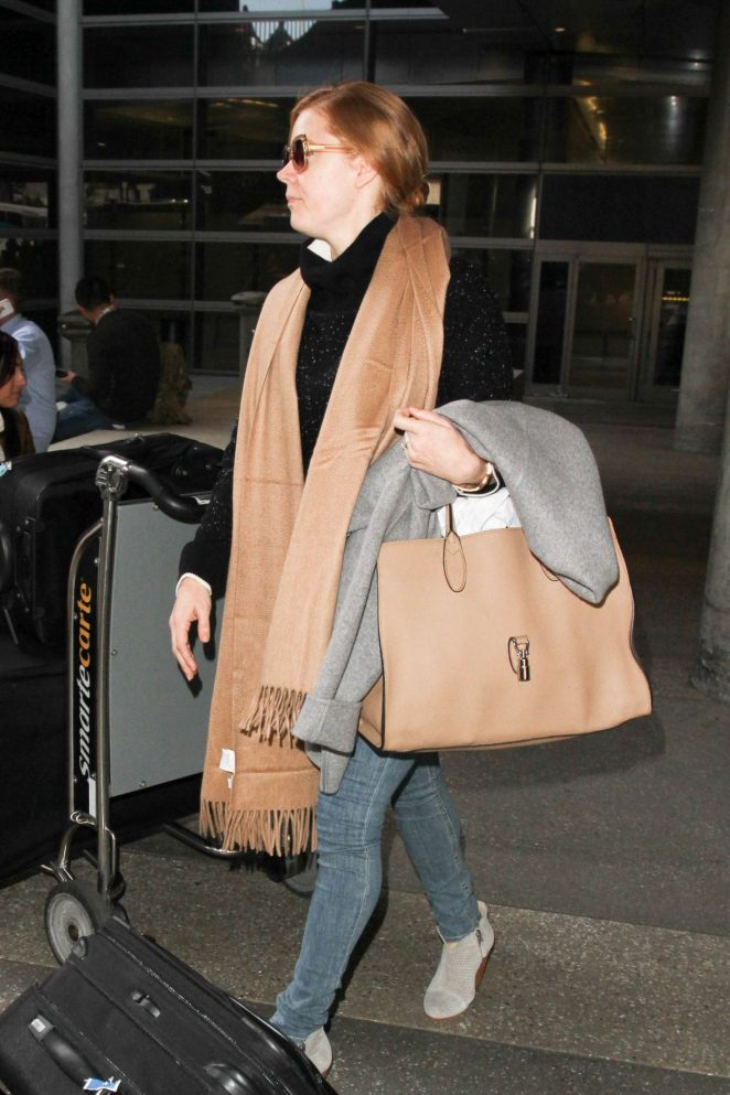 Amy Adams at LAX Airport in LA