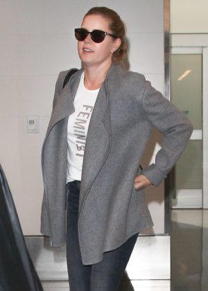 Amy Adams at LAX airport in Los Angeles
