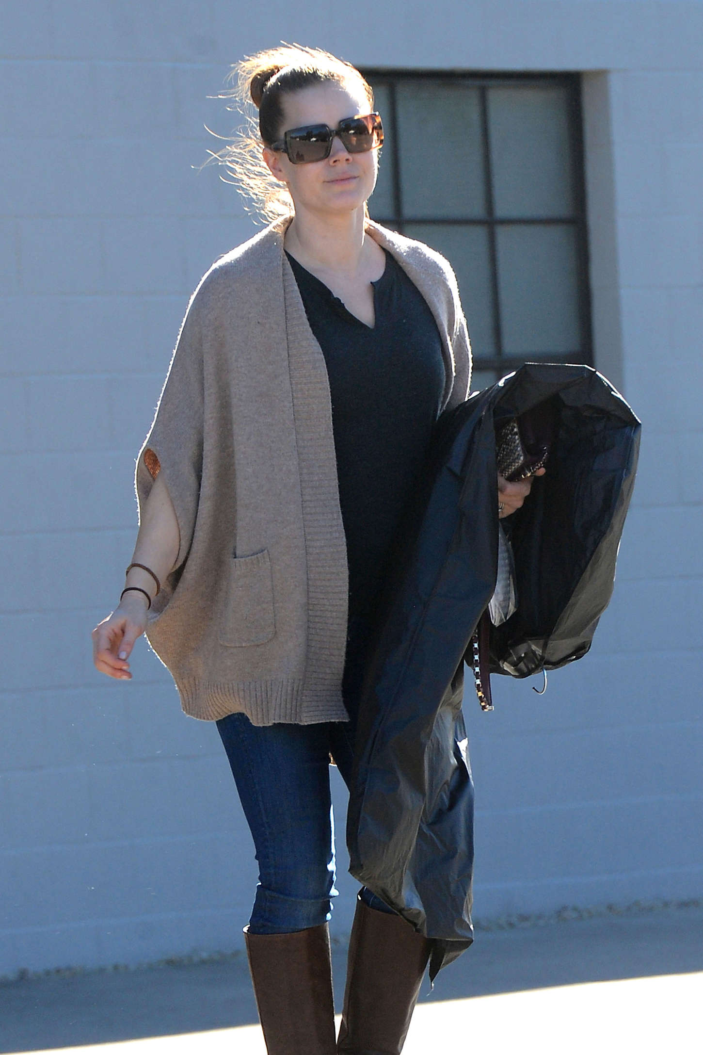 Amy Adams - Exits an Office Building in West Hollywood