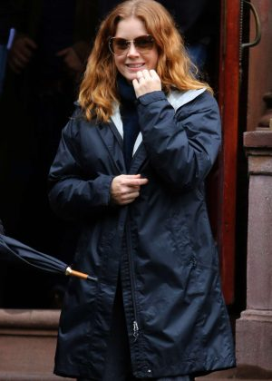 Amy Adams - Filming 'Woman in the Window' in New York City