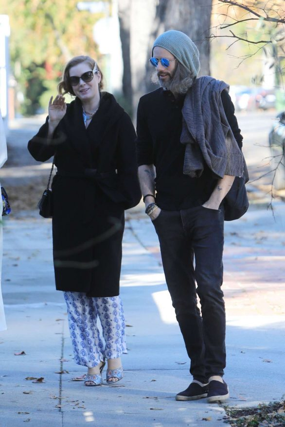 Amy Adams -Heading to New Years Day Party with a Friend in Los Angeles