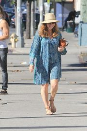 Amy Adams - In blue dress while out in Beverly Hills