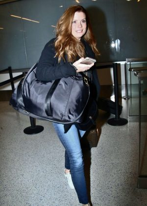 Amy Adams in Jeans at LAX Airport in LA