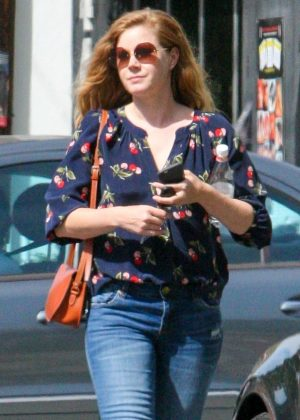 Amy Adams in Jeans out in Los Angeles