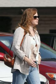 Amy Adams - In jeans outside Ca Del Sole Restaurant in Toluca Lake