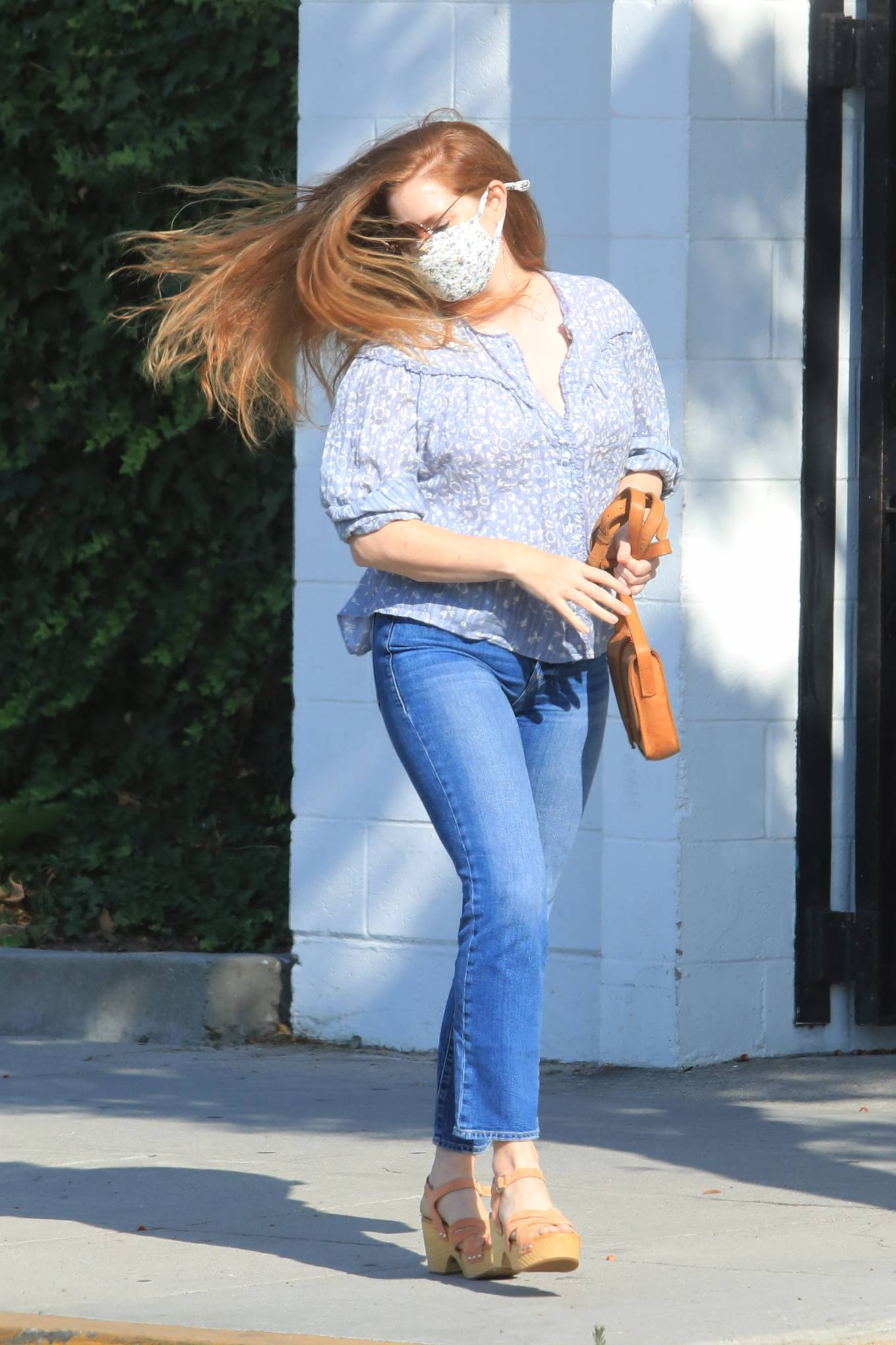 Amy Adams - In jeans seen leaving a hair salon in Beverly HIlls