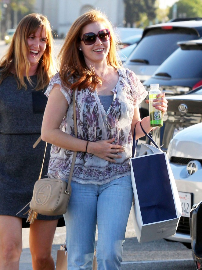Amy Adams in Jeans Shopping in Beverly Hills