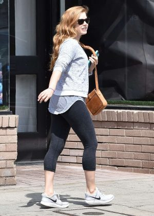 Amy Adams in Leggings out in West Hollywood