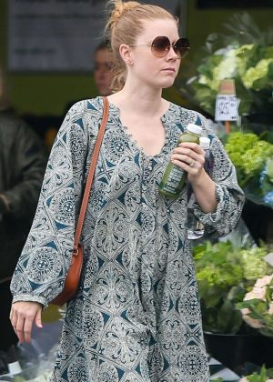 Amy Adams in Long Dress out in Brentwood