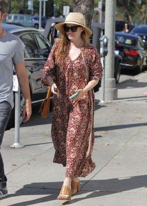 Amy Adams in Long Dress Shopping in Los Angeles