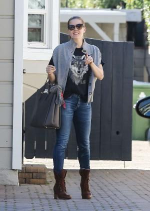 Amy Adams in Tight Jeans Out in Sherman Oaks