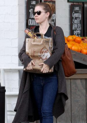 Amy Adams - Leaves Bristol Farms in Beverly Hills