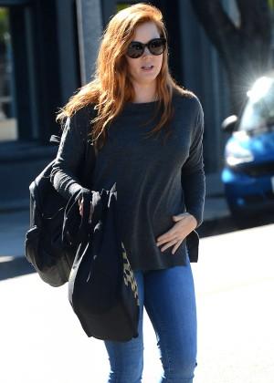 Amy Adams - Leaving a salon in West Hollywood