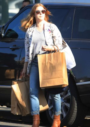 Amy Adams - Leaving a voting booth with husband in West Hollywood