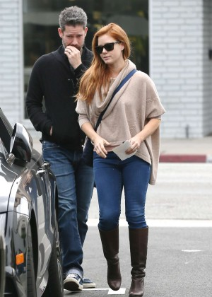 Amy Adams - Leaving breakfast at Toast in West Hollywood