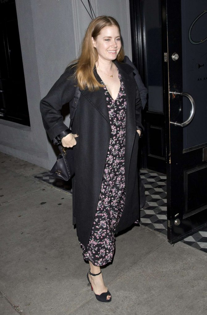 Amy Adams – Leaving Craig's in West Hollywood