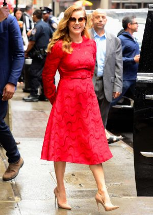 Amy Adams - Leaving 'Good Morning America' in New York