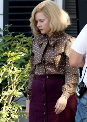 Amy Adams on the set of 'Backseat' in Los Angeles