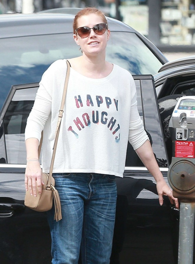 Amy Adams in Jeans Out in Studio City
