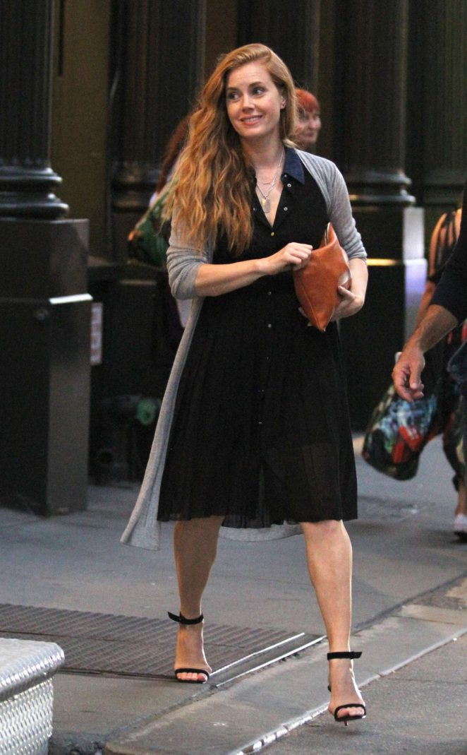 Amy Adams out in Soho