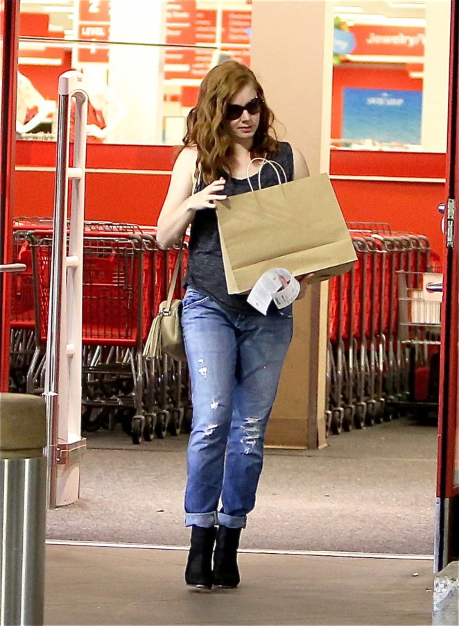 Amy Adams in Jeans Shopping at Target in LA