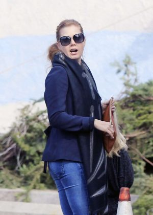 Amy Adams - Shopping for Christmas tree in West Hollywood