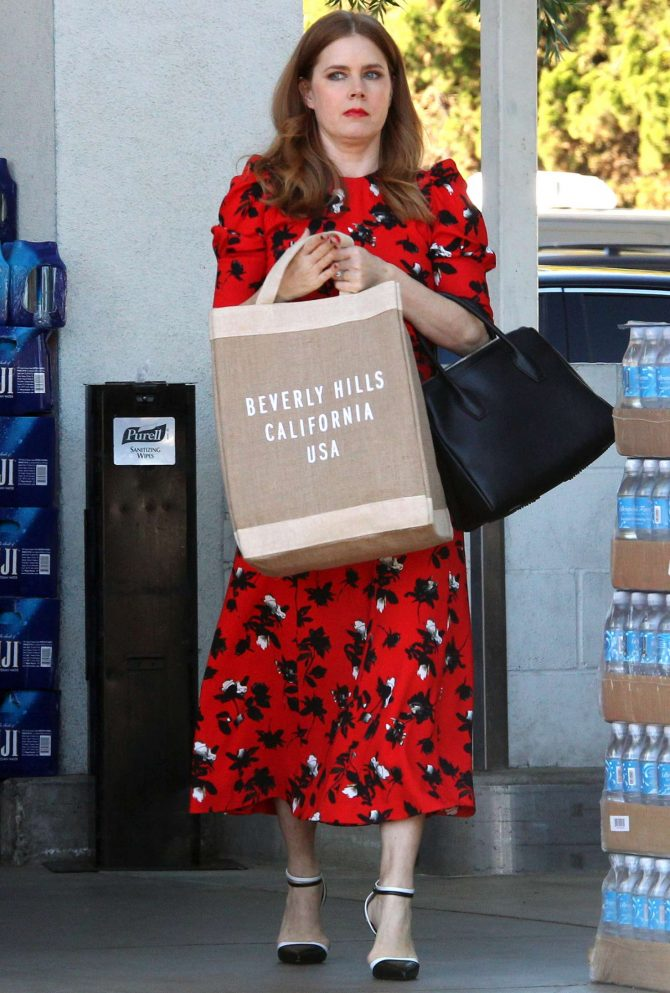 Amy Adams – Shopping for Sushi and veggies in Beverly Hills