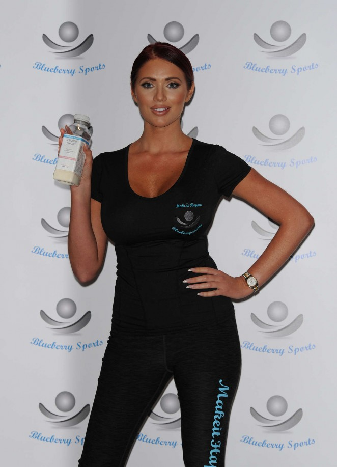 Amy Childs - Blueberry Sports Drink Launch in London