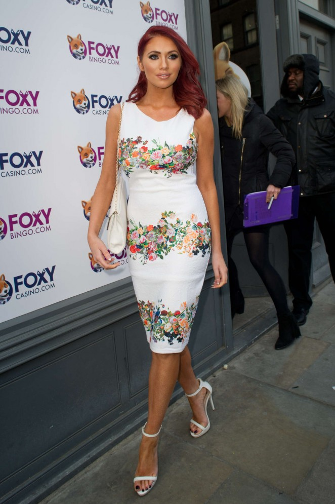 Amy Childs - Foxy's Love Shop Launch in London