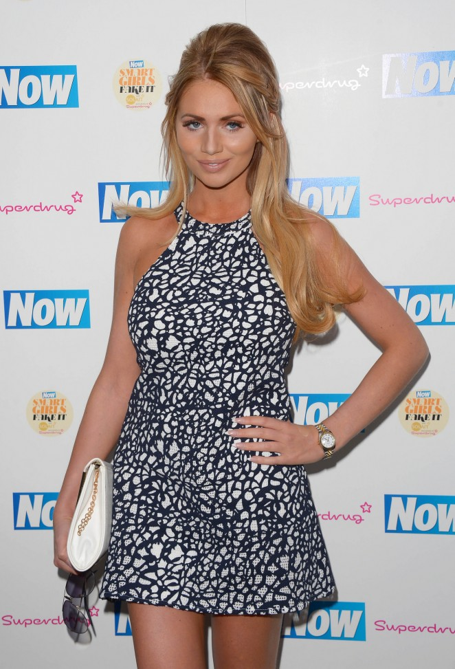Amy Childs - Now Smart Girls Fake It Campaign Launch in London